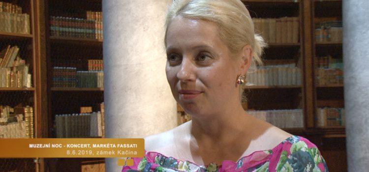 Koncert sopranistky Markéty Fassati, NZM zámek Kačina